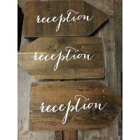 Assorted Wooden Directional Sign