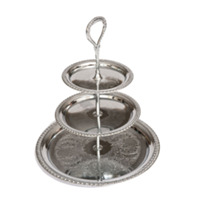 Silver Three Tiered Serving Stand
