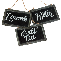 Assorted Beverage Chalkboards