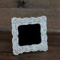 Small Shabby White Square Chalkboard Sign