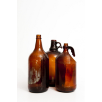 Large Brown Jugs and Bottles