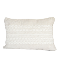 Small Linen and Lace Pillow