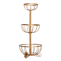 Tiered Gold Basket Stand