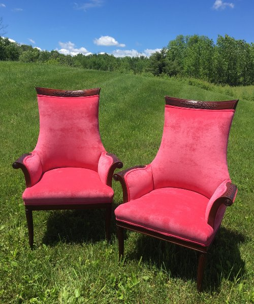 "Vintage ""Rose"" Chairs"
