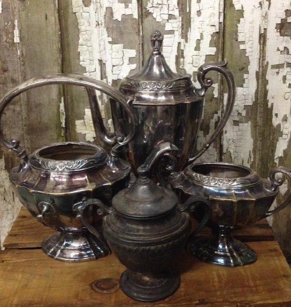 Set: 4 Assorted Vintage Silver & Pewter
