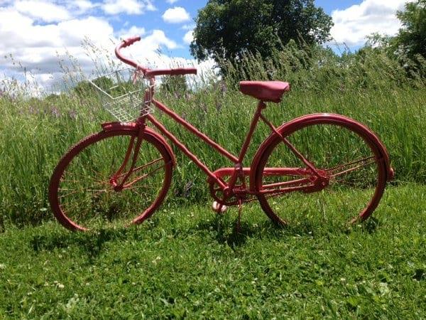 Pink Bike with Basket