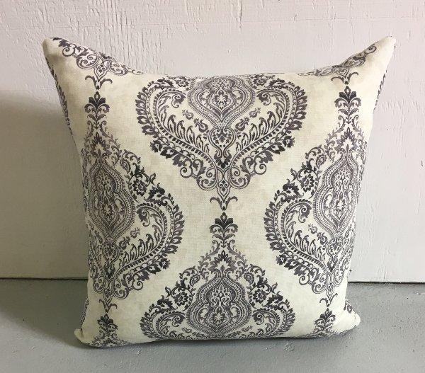 Black & Ivory Indo Print Pillow