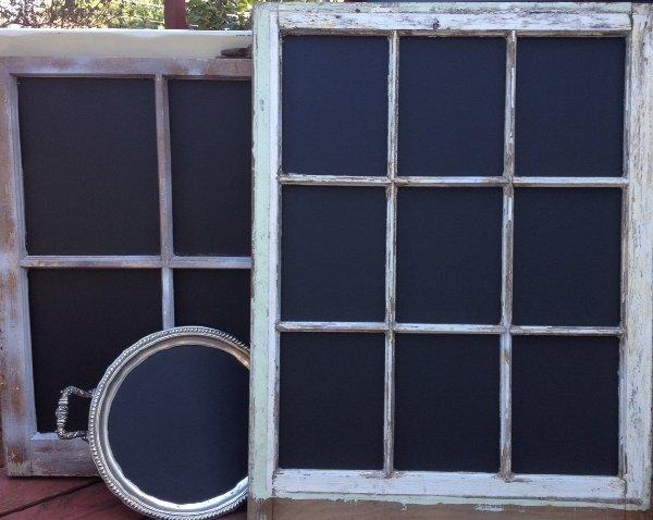 Chalkboard Window Frames