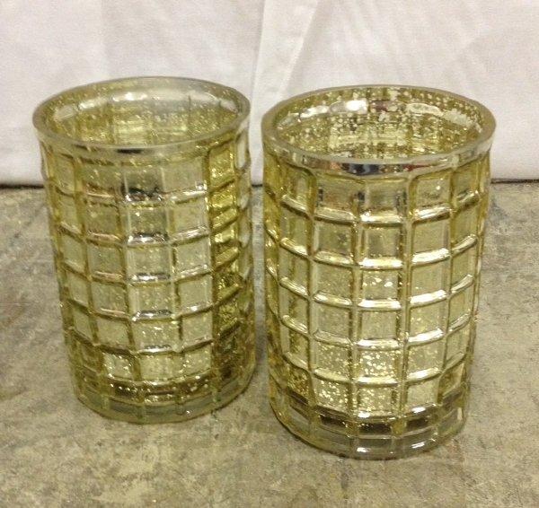 Set: 2 Mercury Candle Holders