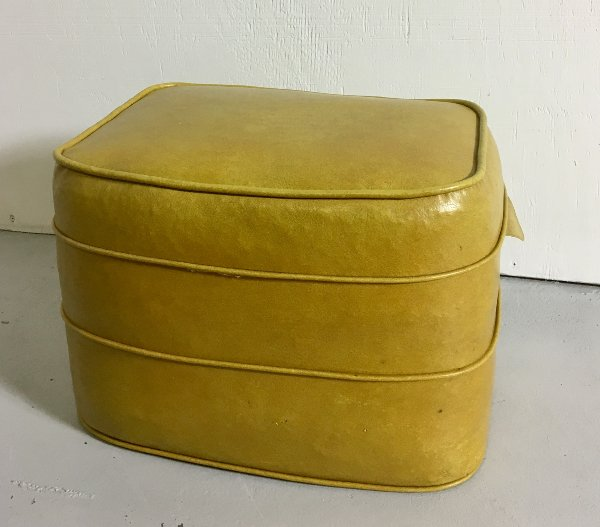 Vintage Mustard Yellow Leather Foot Rest