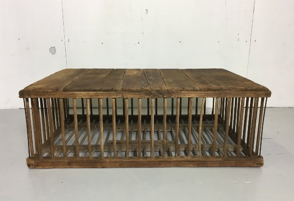 Vintage Chicken Cage Coffee Table