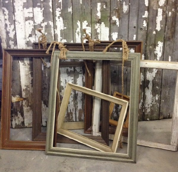 Assorted Rustic Empty Frames