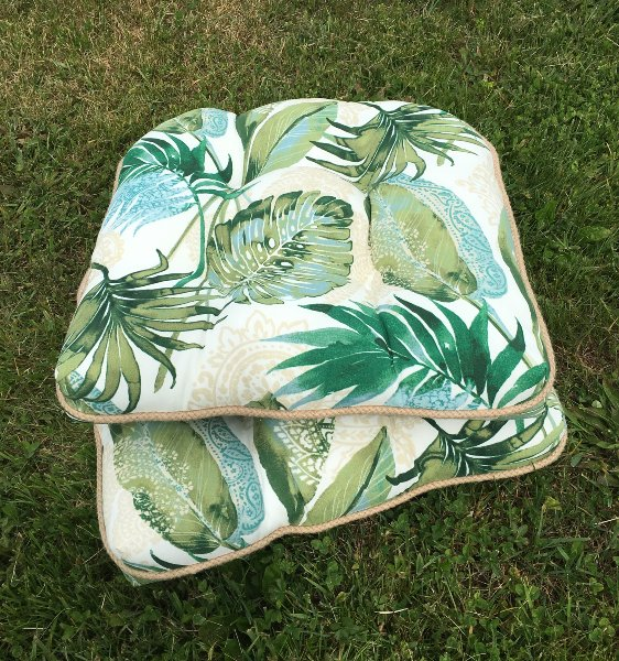 Set of Two: Tropical Seat Cusions