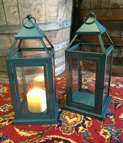 Set: 2 Turqoise Lanterns