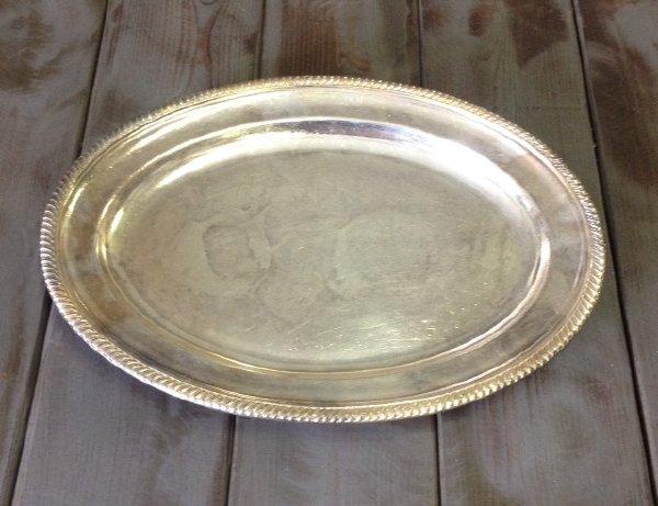 "Vintage ""Courtney"" Silver Platter"