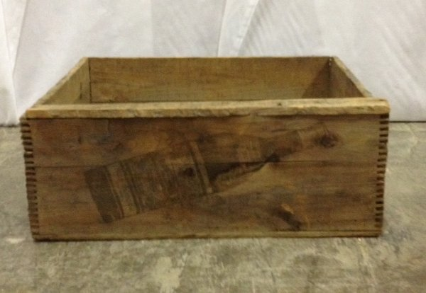 "Vintage Wooden ""Vino"" Stamped Box"