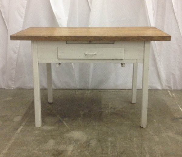 Vintage Butcher Block Top Table
