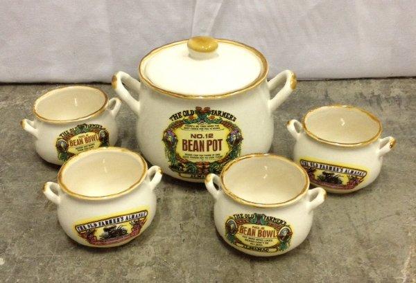 Set: 5 Vintage Bean Pots