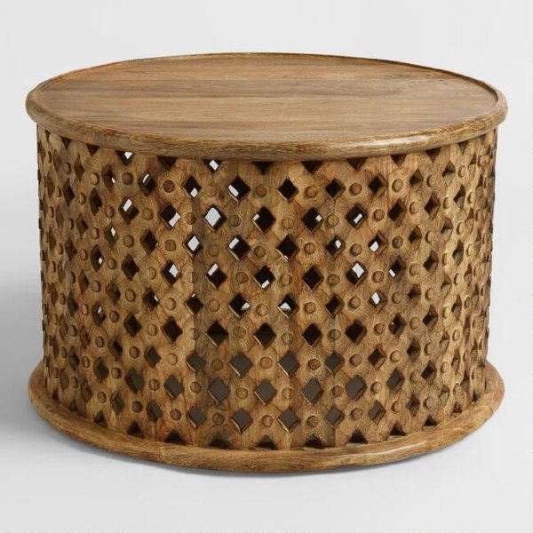 Large Tribal Wooden Accent/Coffee Table