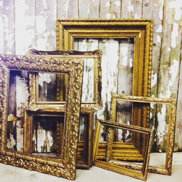 Assorted Vintage Gold Empty Frames