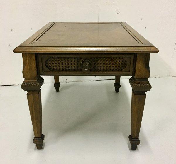 Vintage Caned Side Table