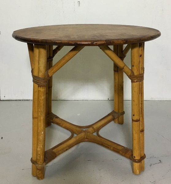 Vintage Bamboo Accent Table