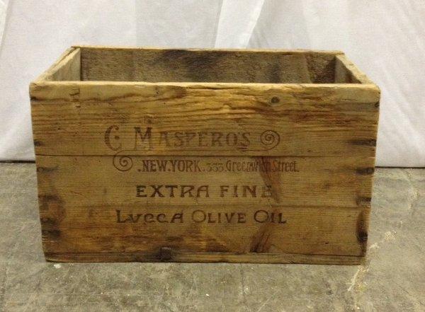 """Vintage """"Masperos"""" Wooden Box"""