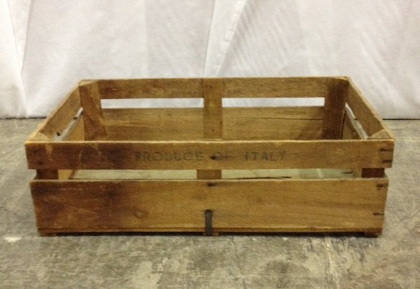 Vintage Wooden Products Of Italy Crate