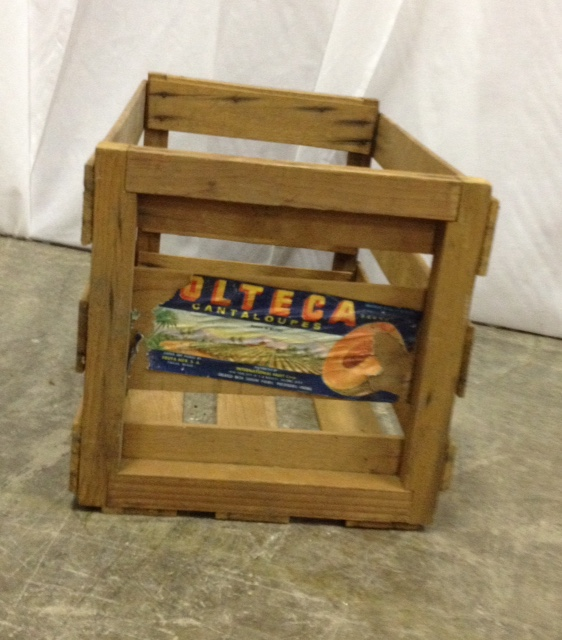 Vintage Wooden Peach Crate