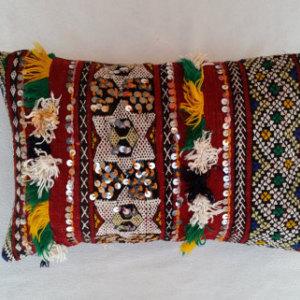 Moroccan Kilim Sequin Pillow