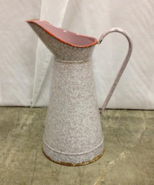 Vintage Pink Splatter Pitcher