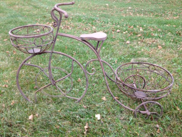 Rusted Tricycle Planter