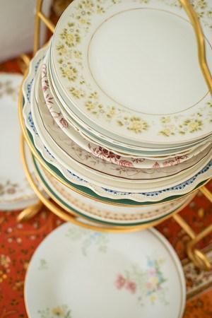 Vintage Assorted Floral China Salad/Dessert Plates