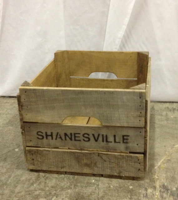 "Vintage ""Shanesville"" Wooden Crate"