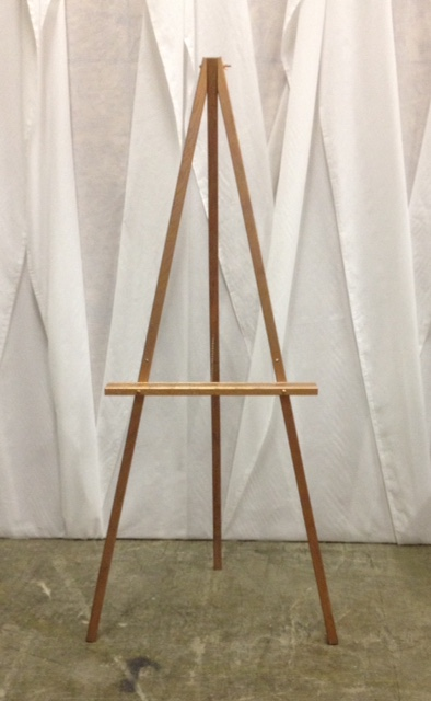 Rose Gold Wooden Easel