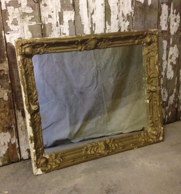 Vintage Gold Chippy Mirror