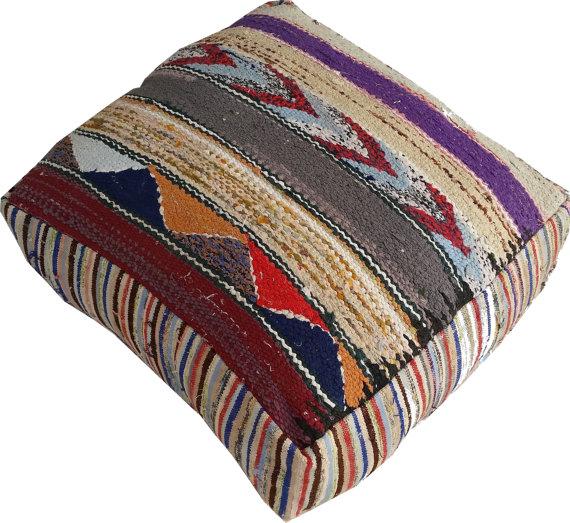 """Moroccan """"Nadia"""" Kilim Floor Cushion"""