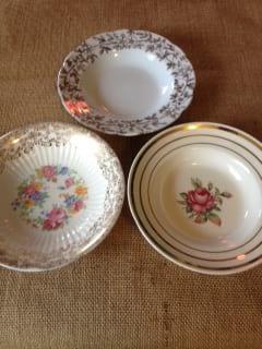 Vintage Assorted Floral China Fruit Bowls