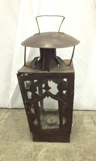 Large Rust Antique Lantern