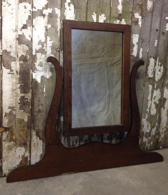 Vintage Rustic Dresser Mirror
