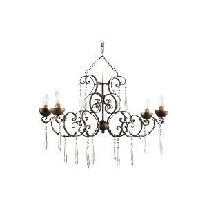 CRYSTAL CHANDELIER, RUSTIC