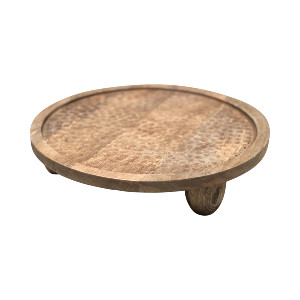 LOW WOOD CAKE STAND
