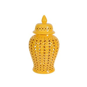 APOTHECARY JAR, YELLOW 2
