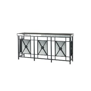 MIRRORED CONSOLE TABLE, BLACK