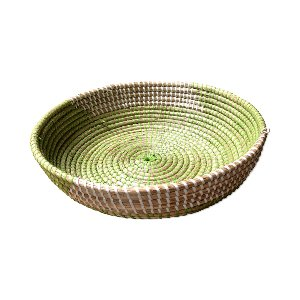 WICKER BOWL GREEN