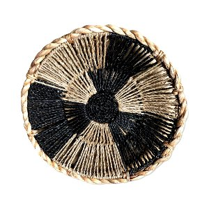 WICKER BOWL BLACK