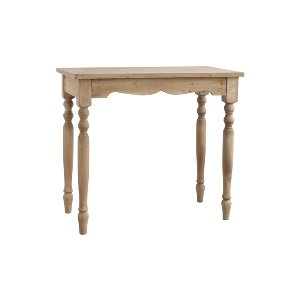 CONSOLE TABLE, NATURAL WOOD