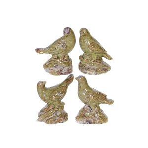 CERAMIC BIRDS, GREEN