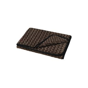 THROW BLANKET, FAUX FUR CHOCOLATE BROWN