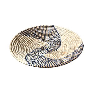 WICKER BOWL NAVY BLUE